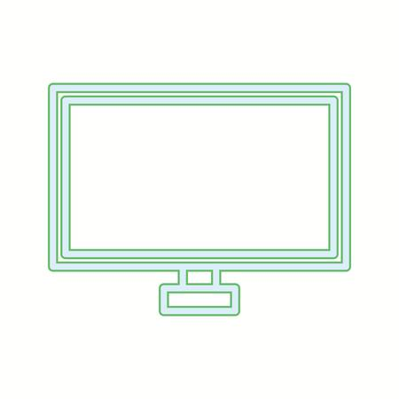 Unique TV Vector Line Icon