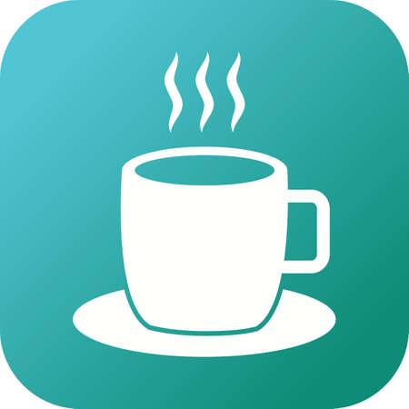 Unique Hot Coffe Vector Glyph Icon Illustration