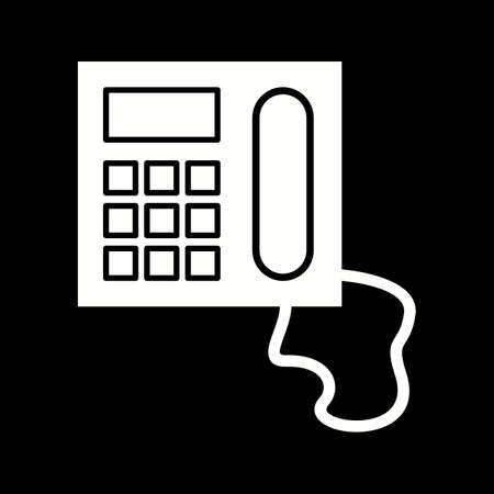 Unique Telephone Vector Glyph Icon
