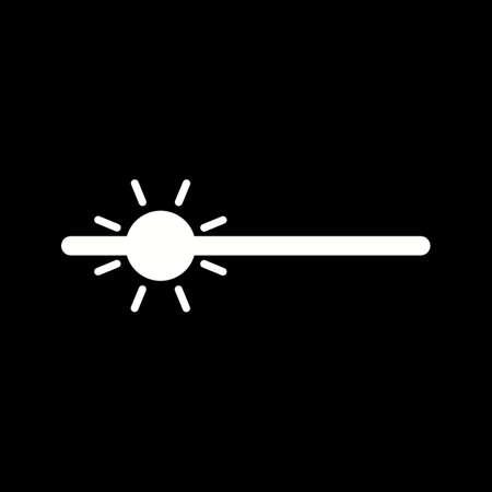 Unique Brightness Vector Glyph Icon