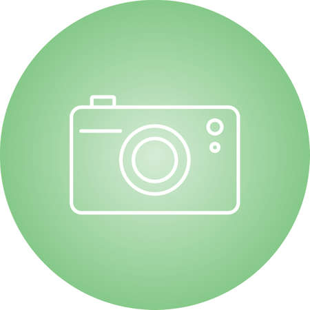 Unique Camera Vector Line Icon