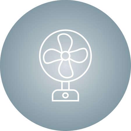Unique Fan Vector Line Icon