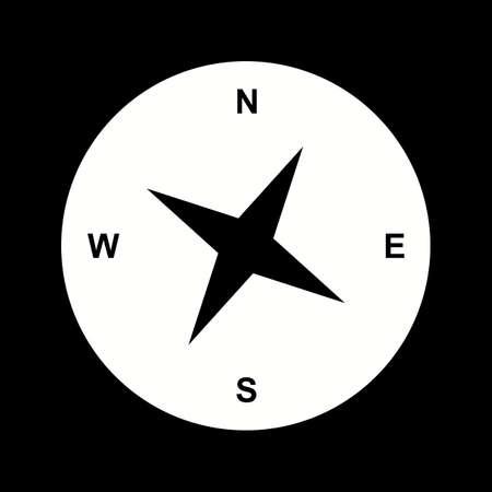 Unique Compass Vector Glyph Icon