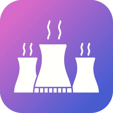 Unique Nuclear Plant Vector Glyph Icon Stock fotó - 138027367
