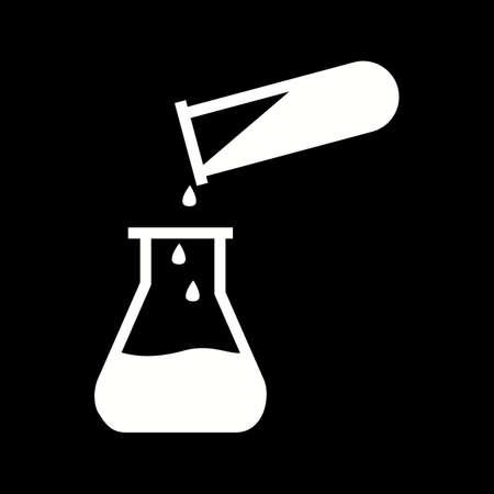 Icône unique de glyphe de vecteur chimique de coulée Vecteurs
