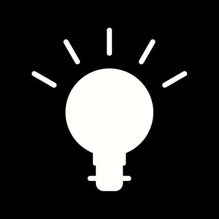 Unique Bulb Vector Glyph Icon 向量圖像