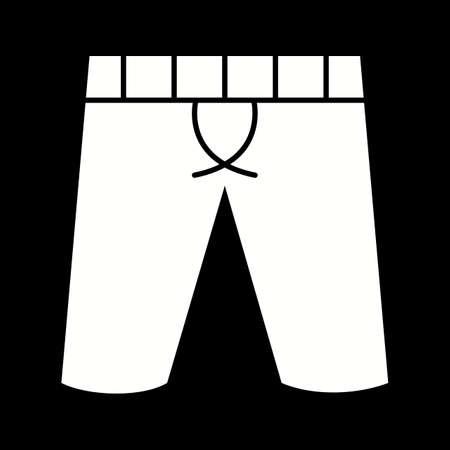 Unique Shorts Vector Glyph Icon