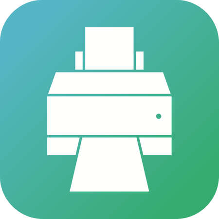 Unique Printer Vector Glyph Icon 向量圖像