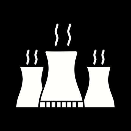 Unique Nuclear Plant Vector Glyph Icon
