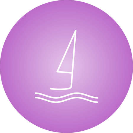 Unique Surfing Vector Line Icon Иллюстрация