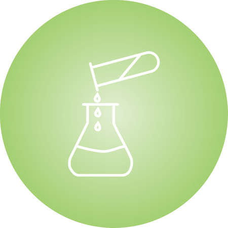 Unique Pouring Chemical Vector Line Icon