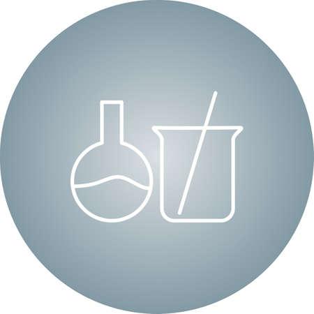 Unique Mixing Chemical I Vector Line Icon Ilustrace