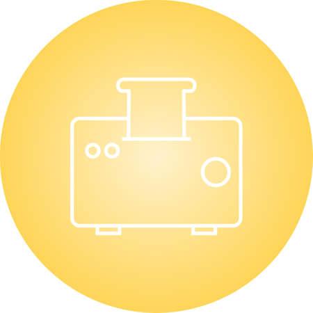 Unique Toaster Vector Line Icon