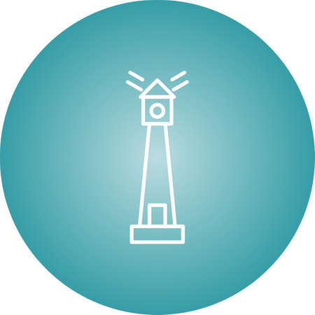 Unique Lighthouse Vector Line Icon Ilustrace