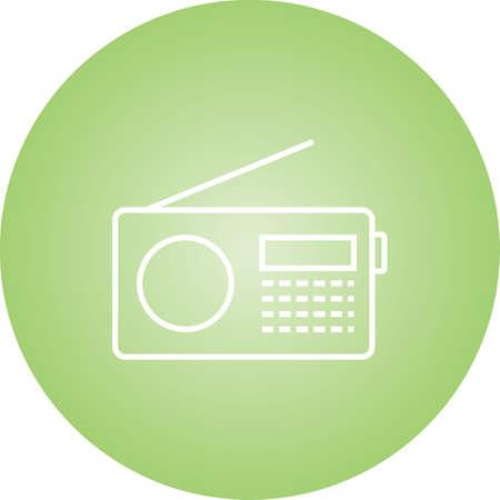 Unique Radio Set Vector Line Icon Illusztráció