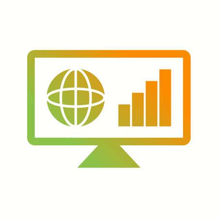 Unique Business News Vector Glyph Icon Çizim