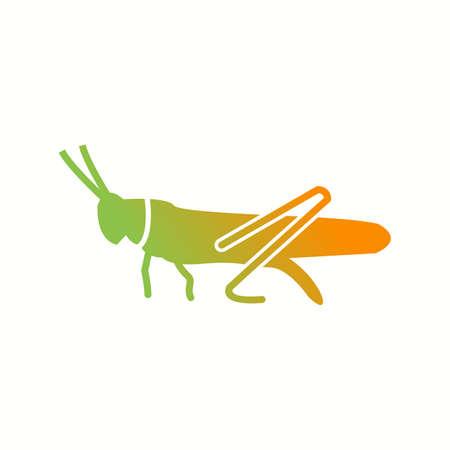 Unique grasshopper Glyph Vector Icon