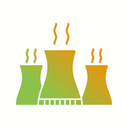 Unique Nuclear Plant Vector Glyph Icon Stock fotó - 138032730