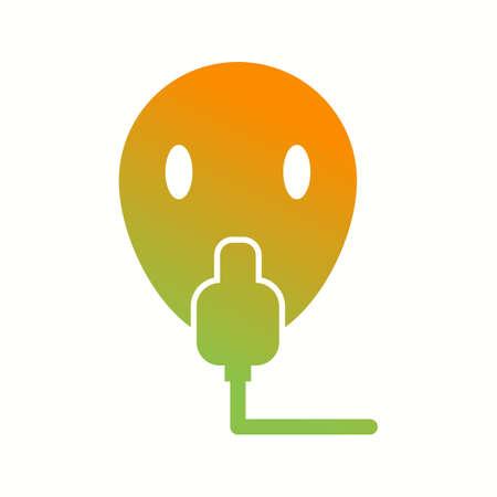 Unique Oxygen Mask Vector Glyph Icon Banco de Imagens - 138029432