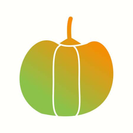 Unique Pepper Vector Glyph Icon Çizim