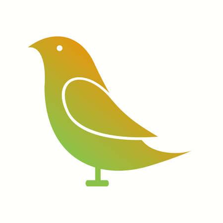 Unique Birds Vector Glyph Icon
