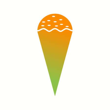 Unique Cone Icecream Vector Glyph Icon