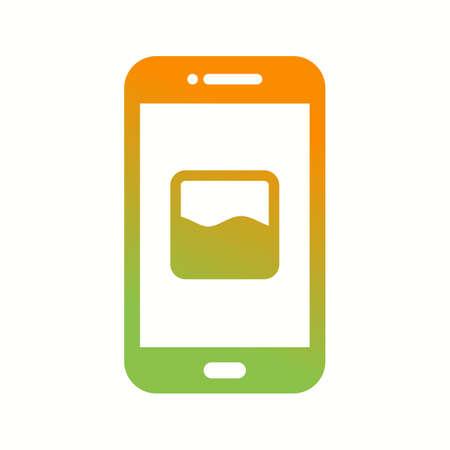 Unique Photos App Vector Glyph Icon Фото со стока - 138032829
