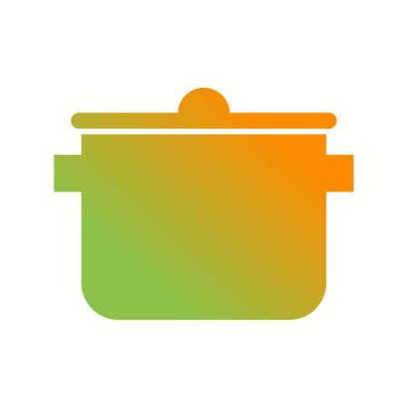Icono de glifo de vector de olla de cocina único