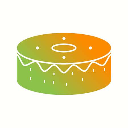 Unique Birthday Cake Vector Glyph Icon