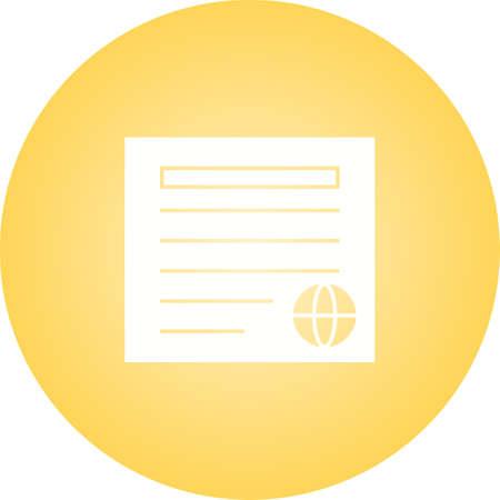 Icono de glifo de vector de periódico único