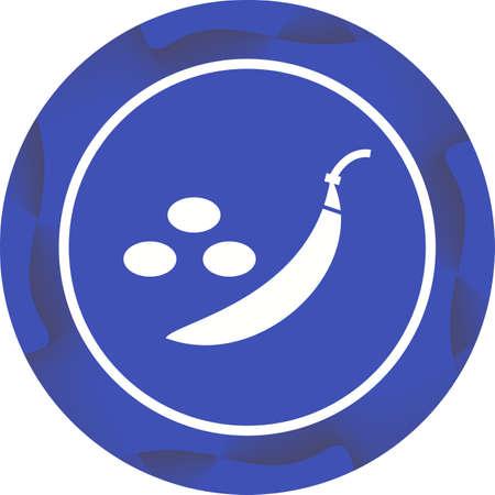 Unique Peas Vector Glyph Icon Ilustrace