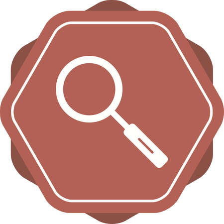 Unique Search Vector Glyph Icon