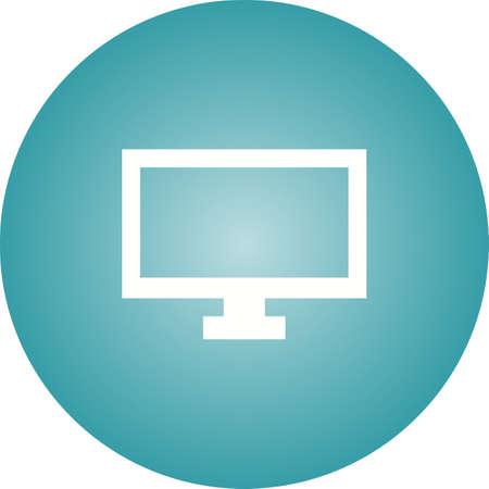 Unique TV Vector Glyph Icon Ilustração