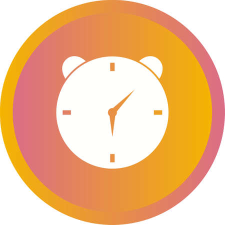 Unique Alarm Clock Vector Glyph Icon
