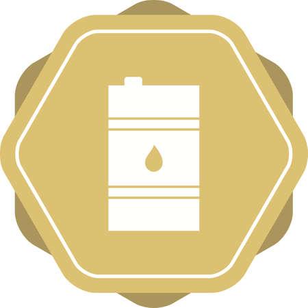 Unique Oil Barrel Vector Glyph Icon