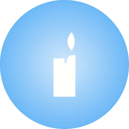 Unique Lighter Vector Glyph Icon