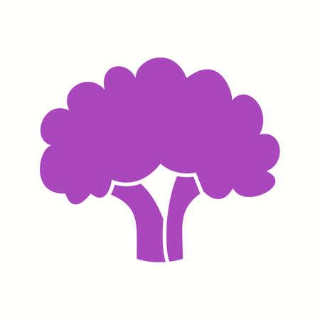 Icône de glyphe de vecteur de chou-fleur unique Vecteurs