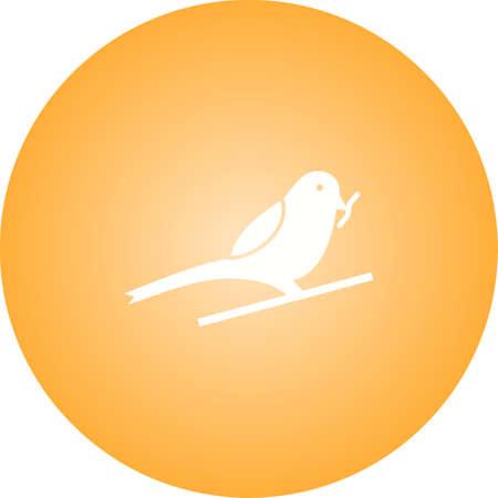 Unique Sparrow Eating insect Vector Glyph Icon Ilustração