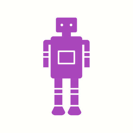 Unique Robot Vector Glyph Icon