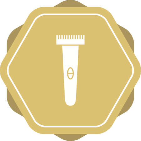 Unique Shaving Machine Vector Glyph Icon Çizim