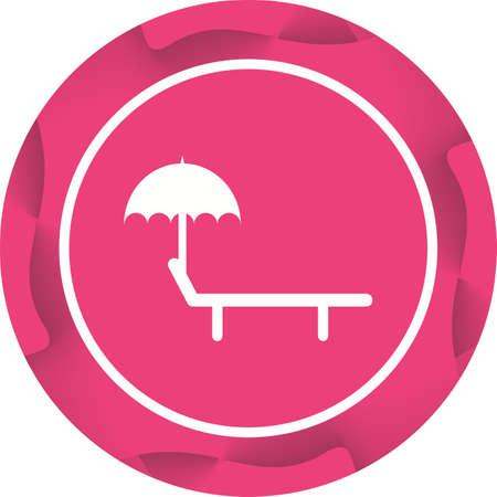 Unique Sunbathing Chair Vector Glyph Icon Illustration