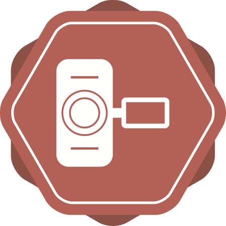 Unique Hand Camera I  Vector Glyph Icon