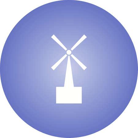 Unique Turbine Vector Glyph Icon