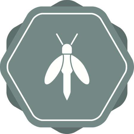 Unique Firefly Glyph Vector Icon