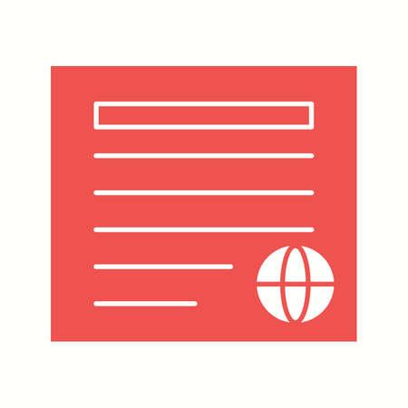 Unique Newspaper Vector Glyph Icon