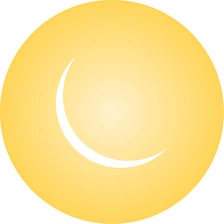 Unique New Moon Vector Glyph Icon 版權商用圖片 - 138931549