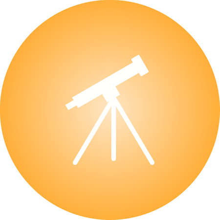 Unique Telescope Vector Glyph Icon
