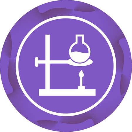 Unique Experiment Vector Glyph Icon
