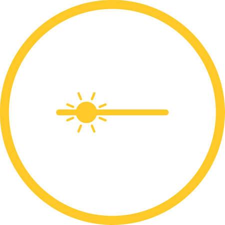 Unique Brightness Vector Glyph Icon Ilustração Vetorial
