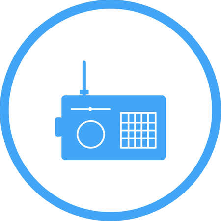 Unique Radio Vector Glyph Icon